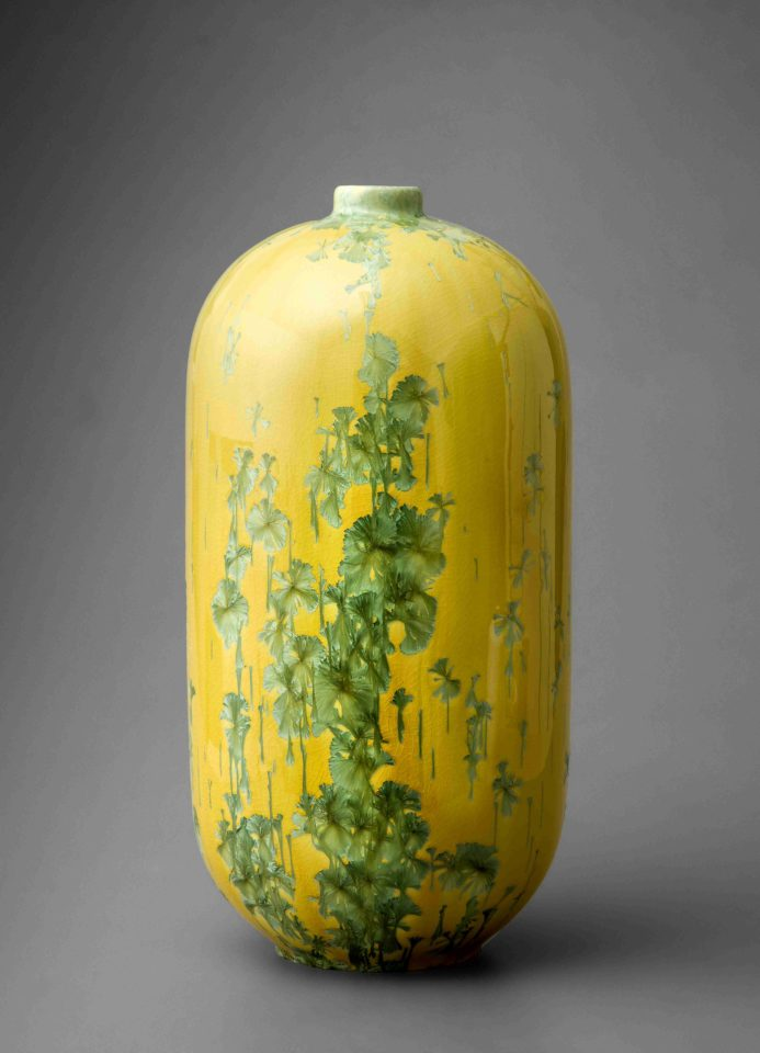 Yellow vase height 52cm