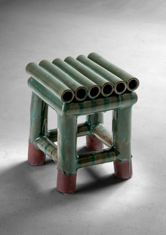 Furniture Pieces Are Made Of Height Firing Terracotta Clay. Actual Ceramic  Tubes (tubing) Are Press By Very Simple Hand Press Machine And Join  Together ...